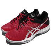 【六折特賣】Asics 排羽球鞋 Gel-Tactic 紅 黑 舒適緩震 羽球 排球 男鞋 運動鞋【PUMP306】 B702N2393