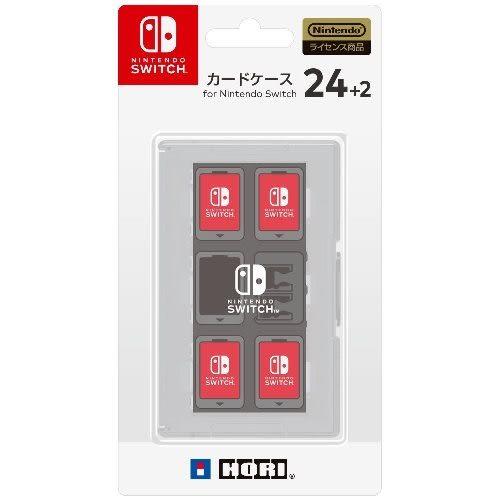 【軟體世界】Nintendo Switch NS HORI 遊戲收納盒24+2 (白) (NSW-028)