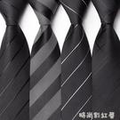 6CM窄版領帶男士韓版休閒黑色商務正裝學生男女士工作小細 禮盒裝「時尚彩紅屋」