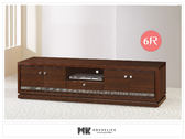 【MK億騰傢俱】ES387-3G水鑽胡桃色/白色6尺電視櫃