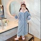 兒童睡衣 珊瑚絨春季加厚款中大女童加絨法蘭絨寶寶家居服套裝【快速出貨八折下殺】