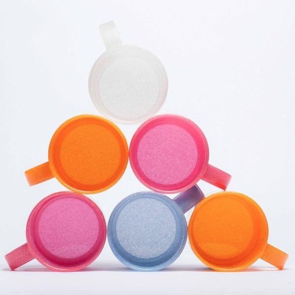 日本製mju-func®妙屋房雙人2件組(粉藍+粉橘)高級抗菌加工潄口杯 UG-MBO