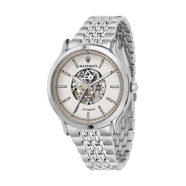 【Maserati 瑪莎拉蒂】LEGEND經典鏤空機械腕錶-銀白系/R8823138001/台灣總代理原廠公司貨兩年保固