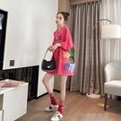 短袖短袖t恤女寬松上衣韓版潮半袖中長款夏裝