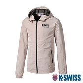 K-SWISS Color Zip Jacket防風外套-男-卡其