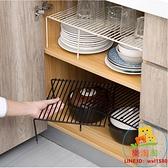 廚房置物架下水槽櫥柜碗碟架調料架子伸縮【樂淘淘】