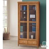 【Hampton 漢汀堡】列蒂西雅柚木3尺推門下抽書櫥