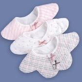 嬰兒純棉紗布圍兜口水巾寶寶防水360度旋轉【奇趣小屋】