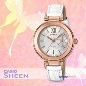 CASIO 卡西歐 SHEEN手錶專賣店 SHE-3051LTD-7A 女錶 皮革錶帶  防水  粉紅金色離子
