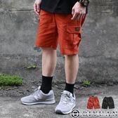 【OBIYUAN】休閒短褲 側邊翻蓋 多口袋 鬆緊抽繩 工作短褲 共2色【Y0759】