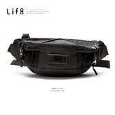 Life8-Casual 功能隨身 兩用式側背(腰)包 【06509】