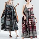 棉麻 日系拼布設計寬鬆感背心洋裝 獨具衣格