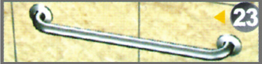 """不銹鋼安全扶手-23 C型扶手1 1/4"""" 長度30cm (1.2""""*1.2mm)扶手欄杆 衛浴設備"""