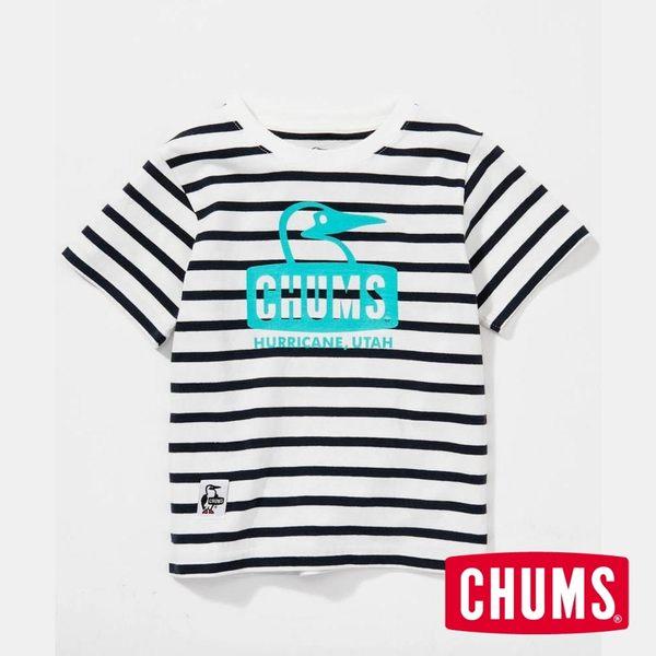 CHUMS 日本 童 Booby 短袖T恤 藍白條紋 CH211051W011
