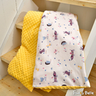義大利Fancy Belle《森林派對》雙層紗防蹣抗菌吸濕排汗兒童兩用豆豆毯(105*135CM)