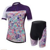 自行車衣套裝-含短袖腳踏車服+單車褲-超強防曬貼身女運動服69u89【時尚巴黎】
