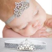 珍珠水鑽皇冠嬰兒髮帶 兒童髮飾 兒童攝影造型配件