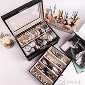 鋼琴漆實木質手錶盒10位機械錶收藏盒手錶帶鎖首飾收納盒  igo全網最低價