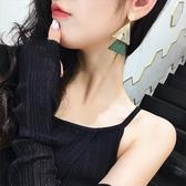 【限時下殺89折】三角幾何耳環氣質耳飾品夸張耳墜簡約個性韓國百搭長版吊墜耳釘女交換禮物