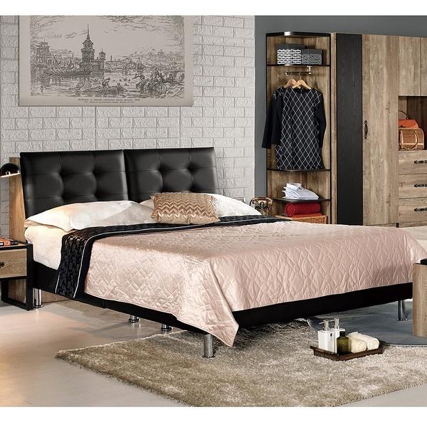 【森可家居】格雷森6尺被櫥式雙人床(不含床墊) 8CM537-1 雙人加大 木紋質感 工業風