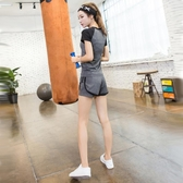 夏季瑜伽服運動套裝女休閒跑步服網紅健身衣專業夏天短褲兩件套