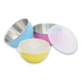 元氣寶寶 彩色不鏽鋼隔熱寶寶碗(附蓋+湯匙)