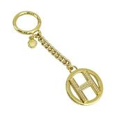 【南紡購物中心】MICHAEL KORS ALPHABET CHARMS H造型鑰匙圈-金