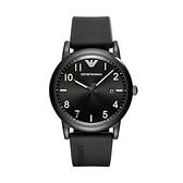 【Emporio Armani】美式經典前衛時尚橡膠腕錶-經典黑/AR11071/台灣總代理公司貨享兩年保固