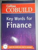 【書寶二手書T1/語言學習_HBI】Collins Cobuild Key Words For Finance Book And CD_Collins