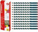 【12支量販】STABILO EASYgraph 右手專用人體工學 HB鉛筆 12支入(型號:322/HB)