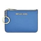 【南紡購物中心】MICHAEL KORS JET SET素面卡片夾層鑰匙零錢包-藍
