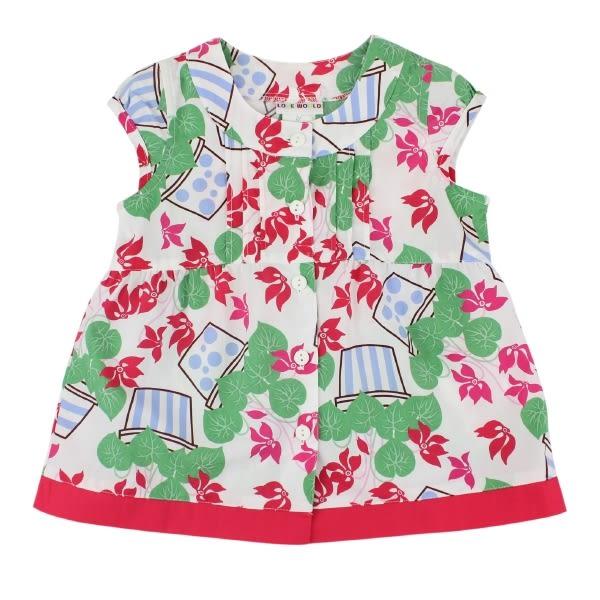 【愛的世界】純棉花盆半袖上衣/3歲-台灣製- ★春夏上著 全面2折