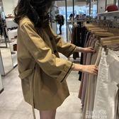 風衣新款女風衣女中長款韓國寬鬆矮個子港風chic外套薄款 生活優品