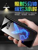 三星手機殼夜光玻璃手機套全包防摔保護套  艾維朵