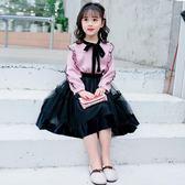 連身裙 女童春秋裝連身裙寶寶洋氣學生女孩6公主7裙子8歲