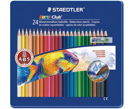 德國施德樓STAEDTLER Noris Club標準型六角筆桿色鉛筆3mm 24色組*MS14410M24.