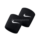 Nike 護腕 Swoosh Wristbands 黑 白 男女款 勾勾 一組兩入 球類運動 運動休閒 【ACS】 NNN0401-0OS