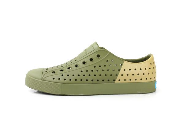 native JEFFERSON 懶人鞋 洞洞鞋 防水 雨天 綠色 草綠 男鞋 女鞋 11100102-3084 no419