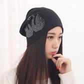 時尚透氣月子帽夏季薄款孕婦帽子女純棉產婦休閒頭巾帽產後套頭帽   LannaS