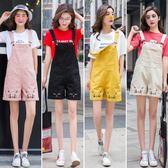 初高中學生韓版夏裝寬鬆牛仔短褲裙吊帶褲      米希美衣