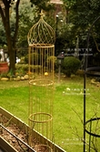 歐式做舊鐵線蓮支架 洋蔥頭式植物爬藤架 地栽盆栽可拆 LX 智慧 618狂歡