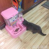 貓咪用品自動喂食器雙碗貓碗狗碗狗狗自動飲水器寵物用品貓狗食盆綠光森林