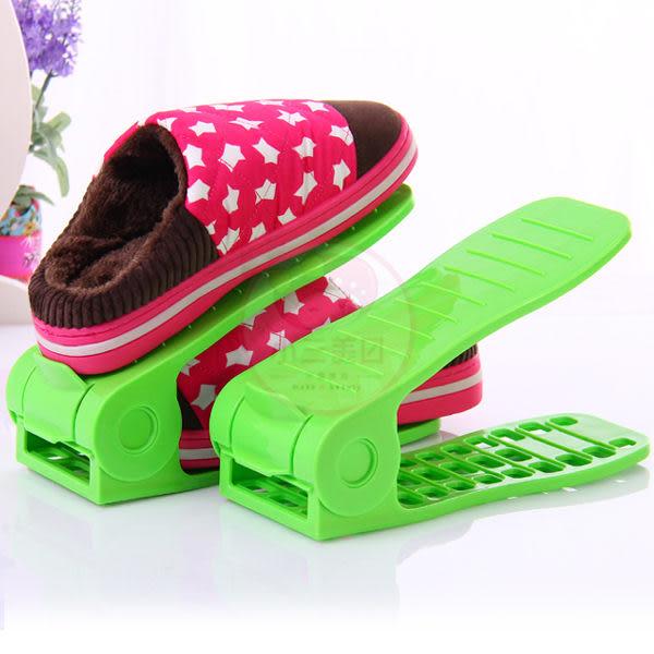 可調式簡易雙層立體收納鞋架/鞋櫃整理架(不挑色) 1組2入【小三美日】