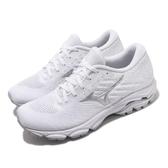 Mizuno 慢跑鞋 Wave Inspire 16 Waveknit 白 銀 女鞋 運動鞋 【PUMP306】 J1GD2013-03
