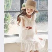 女童連身裙夏季2020新款兒童夏裝睡衣休閒棉麻公主裙子白色寬鬆裙 『歐尼曼家具館』