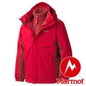 Marmot Boy'S Northshore Jacket 男童 防水透氣兩件式保暖外套 紅 40430