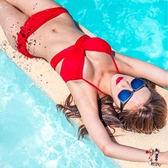 (全館一件免運)* DE SHOP(YOUNG -072)多穿法集中爆乳鋼圈泳衣比基尼廣告款百變多WAY泳裝