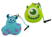 【卡漫城】 怪獸大學 防塵塞 & 捲線器 兩款選一 ㊣版 毛怪 大眼怪 Sulley Mike 隨身 耳機 夾式 集線器