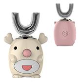 兒童U型電動牙刷 懶人牙刷 U型牙刷 矽膠牙刷 贈慕斯牙膏-JoyBaby