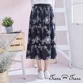 【Tiara Tiara】百貨同步 鬆緊腰優雅緹花半身裙(灰) 店推 新品穿搭